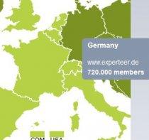 Experteer Mitglieder in Deutschland