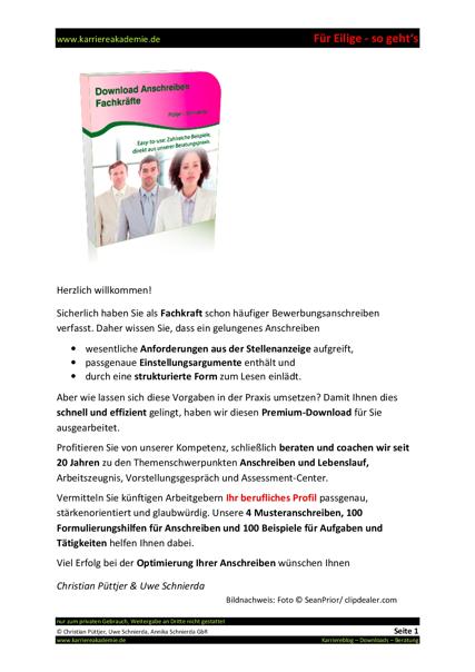4 x Anschreiben: Key Account Manager (m/w)   Karriereakademie