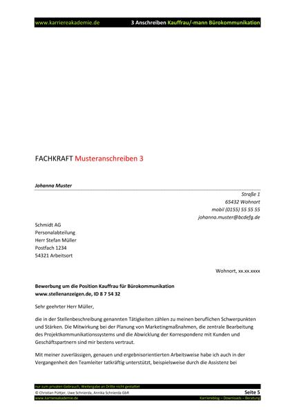 bewerbung kauffrau fr brokommunikation 2018 bundespolizei 3 x anschreiben kaufmann kauffrau brokommunikation karriereakademie - Bewerbung Buromanagement