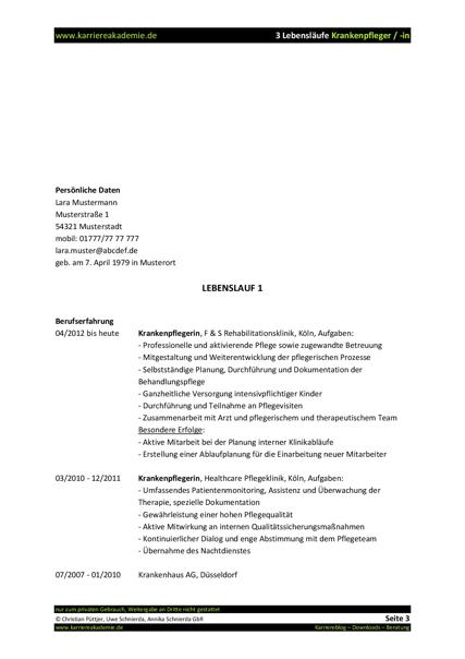 Großartig Oder Krankenschwester Jobbeschreibung Lebenslauf Bilder ...