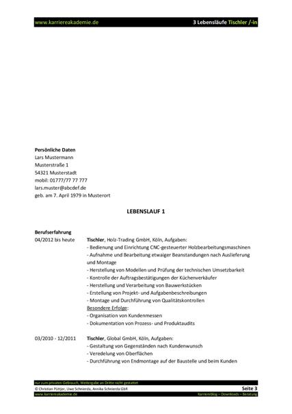 Lebenslauf muster tischler bewerbung deckblatt 2018 for Aufgaben innenarchitekt