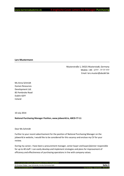 purchasing manager cover letter cover letter insurance