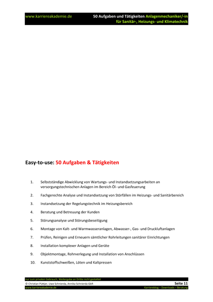 3 x Lebenslauf Anlagenmechaniker Anlagenmechanikerin | Karriereakademie
