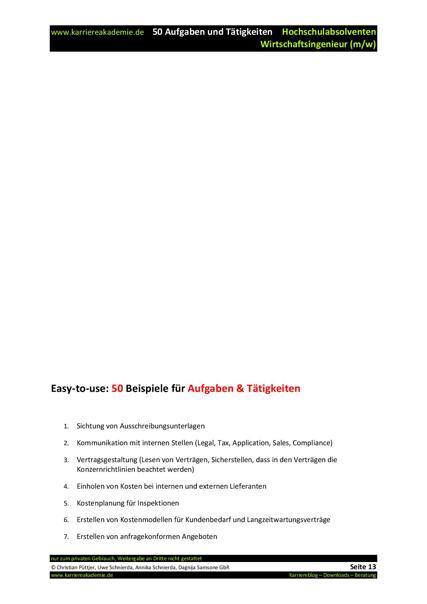 4 x Anschreiben Absolvent Wirtschaftsingenieur (m/w) | Karriereakademie