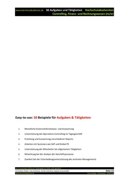 4 X Initiativanschreiben Absolvent Controlling Finanz Und