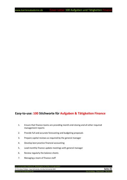 4 Cover Letter - Englische Anschreiben: Führungskraft Finance ...