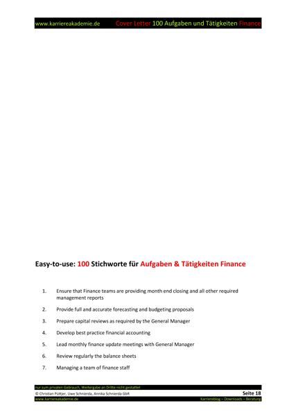 4 Cover Letter - Englische Anschreiben: Fachkraft Finance ...