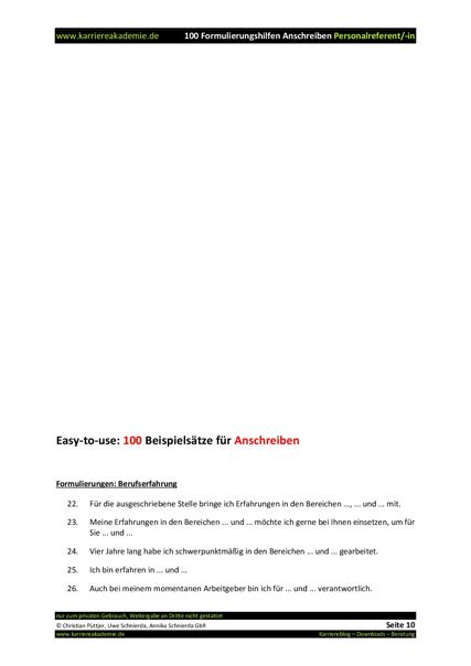 4 x anschreiben personalreferent mw - Anschreiben Personalreferent