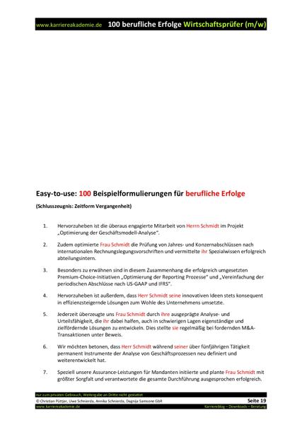 4 x Arbeitszeugnis: Wirtschaftsprüfer (m/w) | Karriereakademie