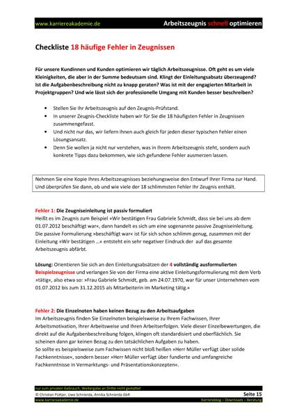 4 X Arbeitszeugnis Bürokauffrau Bürokaufmann Karriereakademie