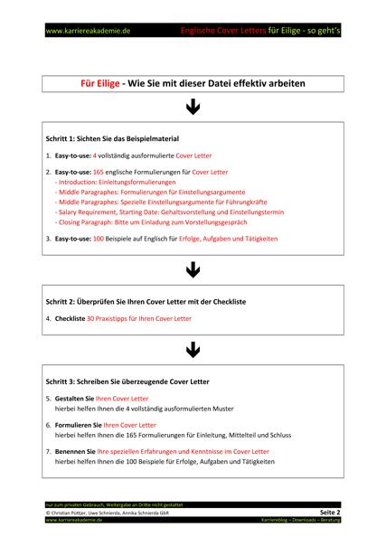 4 Cover Letter Englische Anschreiben Führungskraft Marketing