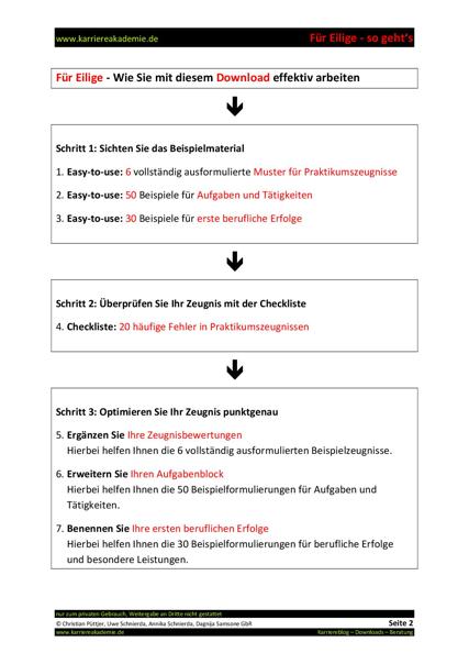 klick produktvorschau - Praktikumszeugnis Muster