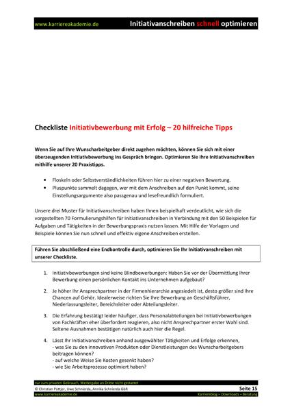 3 x Initiativanschreiben Bankkaufmann Bankkauffrau | Karriereakademie