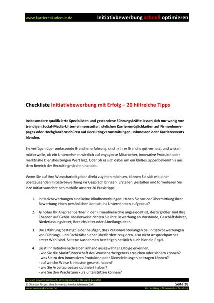 klick produktvorschau - Bewerbung Teamleiter
