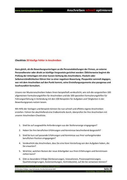 4 X Anschreiben Leiter Online Marketing Mw Karriereakademie